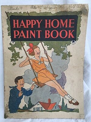 Vintage Detroit, MI Mills Baking Company Advertising Happy Home Paint Book