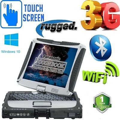 Laptop Panasonic RUGGED Car Diagnostic Toughbook CF-19 MK3  WINDOWS 10 grade B