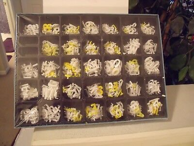 Lot Of Small Plastic Letters And Numbers With Clips For Menu Advertising Board