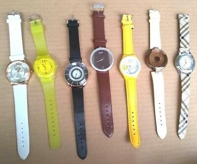 USA Seller 100 Pcs Lots Mixed color Belt Women watches assorted sale,mixed style