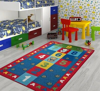 Kids Educational Play Mat Soft Non-Slip Anti-Slip Washable Rug Various Design