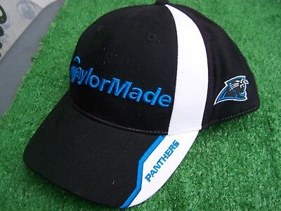 10adf07af TaylorMade Golf Carolina Panthers Black Cotton NFL Golf Hat Cap Adjustable  NEW