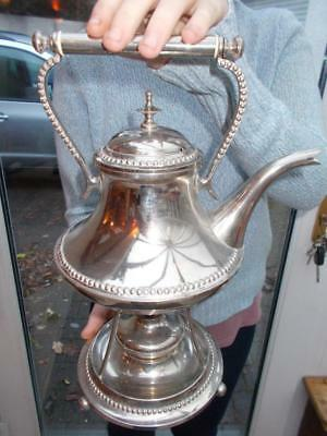 Vintage Silver Plated Spirit Kettle Stand Burner By Oscar Nilsson Sweden