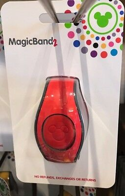 NEW 2018 Disney Parks RED Magic Band 2 2.0 Link It Later MAGICBAND Linkable