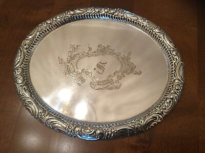 Superb Antique Victorian Mappin Brothers Silver Plated Chased Oval Drinks Tray
