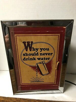 Vintage 1954 Econolite Motion Lamp Why You Should Never Drink Water Boy Peeing