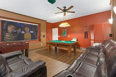 Disney World Orlando vacation rental Kissimmee Florida 7 bed, pool/spa/Theater