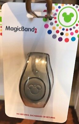 NEW 2018 Disney Parks Grey Magic Band 2 2.0 Link It Later MAGICBAND Linkable