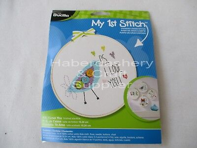 "Bucilla Embroidery Kit With Floss 6"" Plastic Hoop #46005"