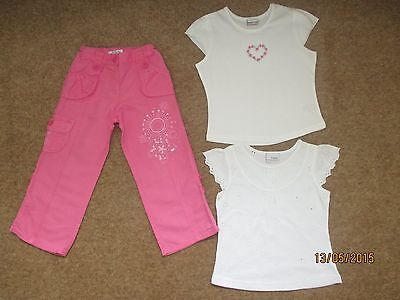 Girls Summer Trousers / T-Shirts Age 2-3 Years NEXT / M&S