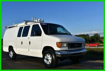2005 Ford E-250 Cargo Van with Work Bins and Ladder Rack