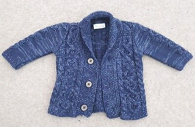 Next Baby Boy Navy Cardigan Up To 3 Months