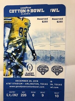 AT&T Cotton Bowl Notre Dame Vs Clemson Close To ND Side 2nd Level!