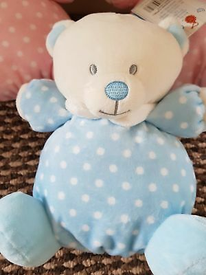 Job Lot x 3 From Birth - Keel Baby Puffball Bear/Rattle-2 Pink-1 Blue BNWT