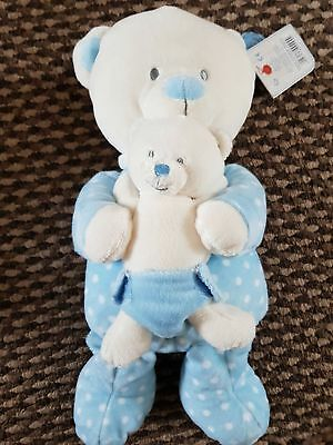 Job Lot x 4-From Birth - Keel Bear in Sleepsuit with Baby Bear-2Pink 2 Blue BNWT