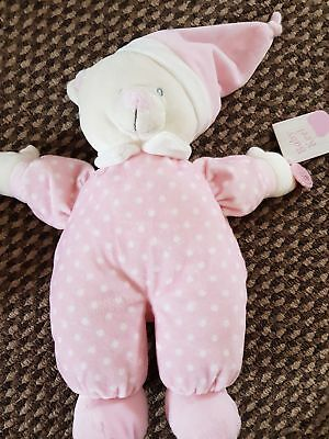 Job Lot x 4- From Birth - Keel Baby Goodnight Bear-Pink/Blue Spot 25cms BNWT