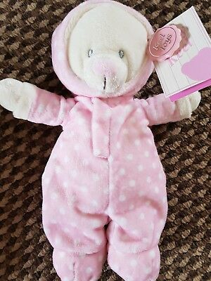 From Birth - Job Lot x 6 KEEL Baby Bear in Romper Suit Blue & Pink Spotty BNWT