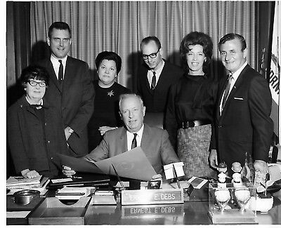 1960's 8 x 10 Photo of Ernest E. Debs and supporters – Los Angeles County Superv