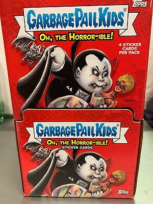 Garbage Pail Kids Oh The Horror-Ible Factory Sealed 60 Packs With 4 Cards Per