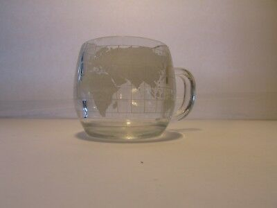 "Vintage 1970's Nestle Nescafe Coffee Glass World Mug Cup ""Taste Your Way"""