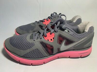 d315615708c01 Women s Nike Lunarglide 3 Athletic Running Shoes size 9 gray n pink
