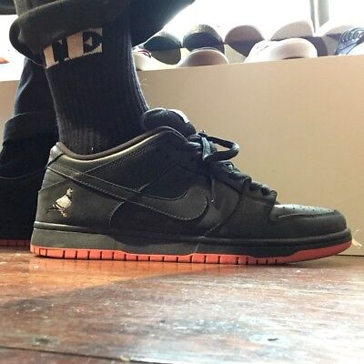 online store 37dc5 ea572 Nike SB Dunk Low Pigeon TRD QS Jeff Staple Black Red UK 9 Sold Out.
