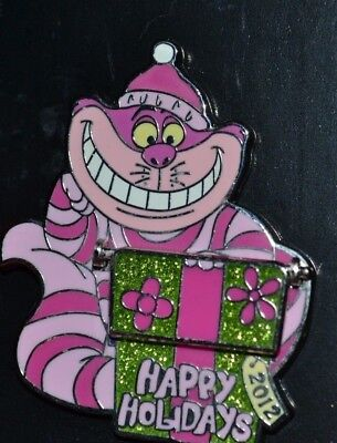 Disney Cast Exclusive Cheshire Cat Happy Holidays 2012 Le Pin 93812