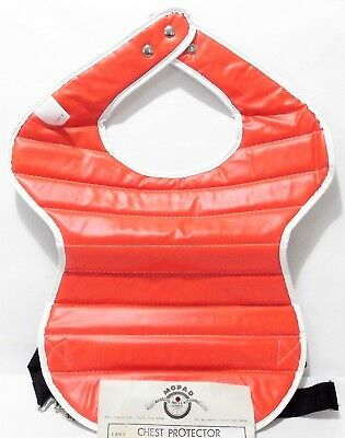 NOS Vintage Motocross CHEST PROTECTOR Roost Guard ORANGE-Red Honda Maico ADULT