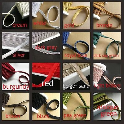 Flanged Piping Cord Rope 5 Trimmings Cushion Piping Cord Upholstery Dressmaking