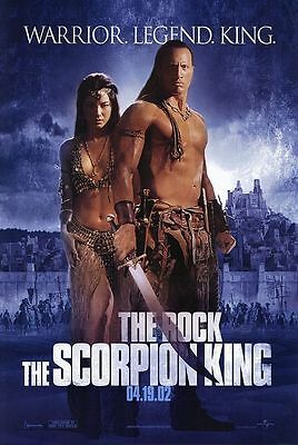 The Scorpion King Original D/S Blue Advance Rolled Movie Poster 27x40 NEW 2002