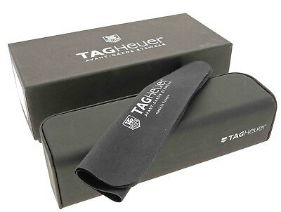 Tag Heuer Glasses Case + Lense Cloth In Gift Box Eyewear Spectacles Frames