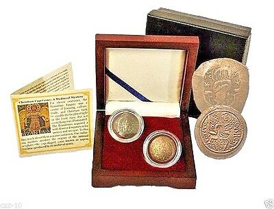 Two Christian Cup Coins: A Medieval Mystery, in Beautiful Wood Presentation Box