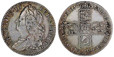 1746 LIMA George II sixpence Great Britain silver coin