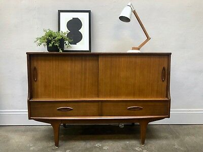 Vintage 60s 70s JENTIQUE Teak Sideboard. Danish Retro. DELIVERY AVAILABLE