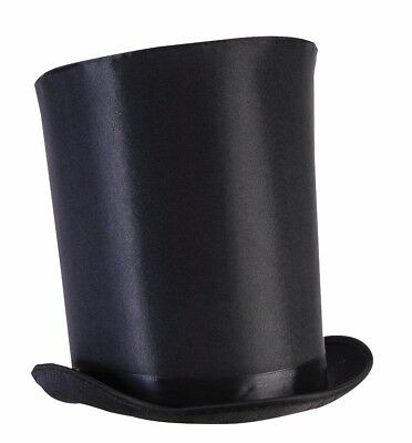59434f7d3ed6c Tall Black Top Hat Magician Steampunk Ringmaster Extra Tall Costume  Accessory