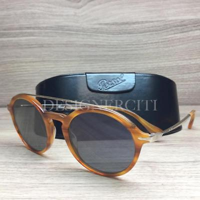 a85787d15241e Persol 3172-S 3172 Sunglasses Light Havana Silver 960 56 Authentic 51mm