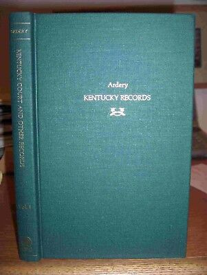 Kentucky Court And Other  Records Genealogy Book