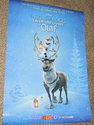 """Olaf's Frozen Adventure """"FRENCH"""" 27x40 Original D/S Movie Poster"""