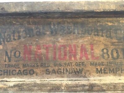 Antique Washboard ~ National washboard 801 ~ Good Graphics ~ Weathered