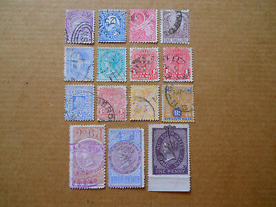 British Colony New South Wales Lot Of 15 All Diff Stamps Of 1888- 1906 /Cat $34+