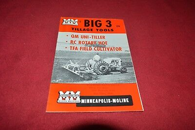 Minneapolis Moline Uni-Tiller RC Rotary Hoe TFA Field Dealer's Brochure YABE17