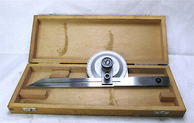 Tesa Angle Protractor in Wood Case