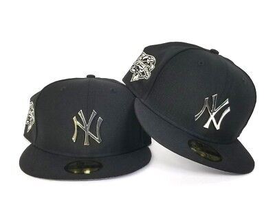 New Era Black 2000 World Series New York Yankees Silver Metal Badge fitted  hat 09c48a0c4c3a