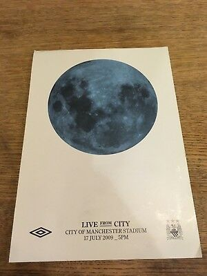 DOVES Manchester City gig FLYER from 2009 concert Etihad Stadium MCFC Man City