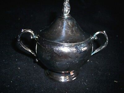 Eli Lilly Pharmaceuticals Ceclor $300 Million Celebrate Silver Plated Sugar Bowl
