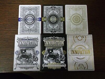 "3 x Different PACKS ""Bicycle Type  - Innovation"" Packs of Playing Cards"