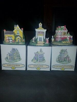 1995 The Bunny Family Village Easter figurines