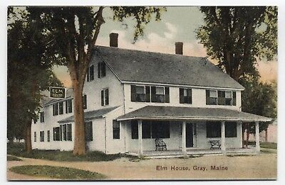 ME ~ Elm House GRAY Maine c1908 Cumberland County Postcard