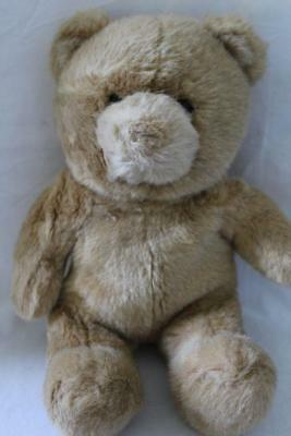 "BUILD A BEAR BABW Old Label Soft Stuffed TEDDY BEAR Plush/Toy Beige 13"" (bab)"