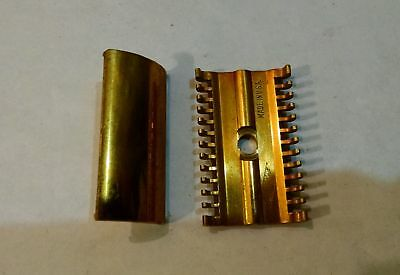 """Vintage Gillette Razor---The NEW Head and  """"Long Comb""""  Bar Guard---For Parts"""